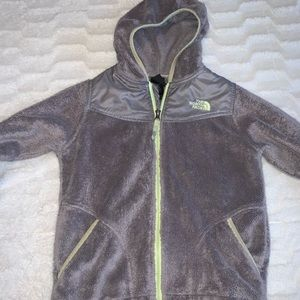 North face kid girl warm zip up